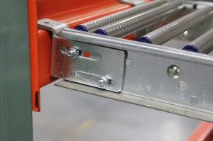 Carton Flow Double Roller with RhinoTrac Integrated Bracket