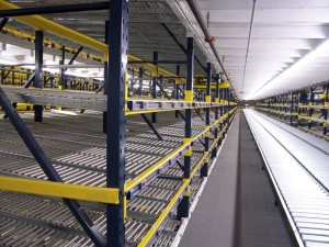 Pick Module Level with RhinoTrac Carton Flow to Conveyor