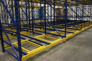 Push Back Racking Row With Carts