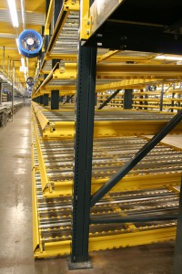 UPick Carton Flow Racks Side View At Pick Module