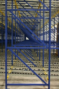 Pallet Flow Rack Side View with Poly Wheels
