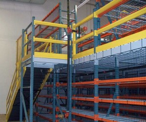 Stairs at Mezzanine Area of Pick Module