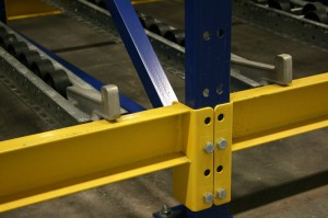 Pallet Flow Steel Brakes On Structural Rail