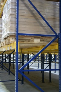 Roll-Formed Pallet Rack Beams with Structural Upright Frame